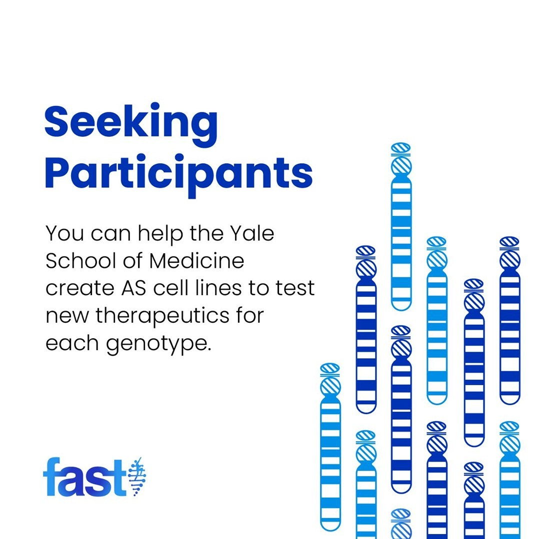 Help create AS cell lines to test new therapeutics for each genotype